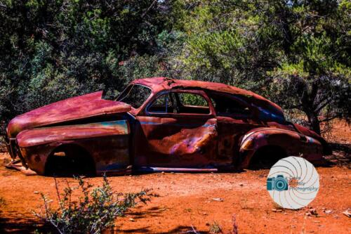 Abandoned car in the desert - Dave Buttery Photography