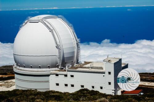 The William Herschel Telescope Dome above the clouds on La Palma